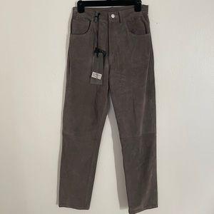 GIORGIO BrATO women leather pants . Size 40